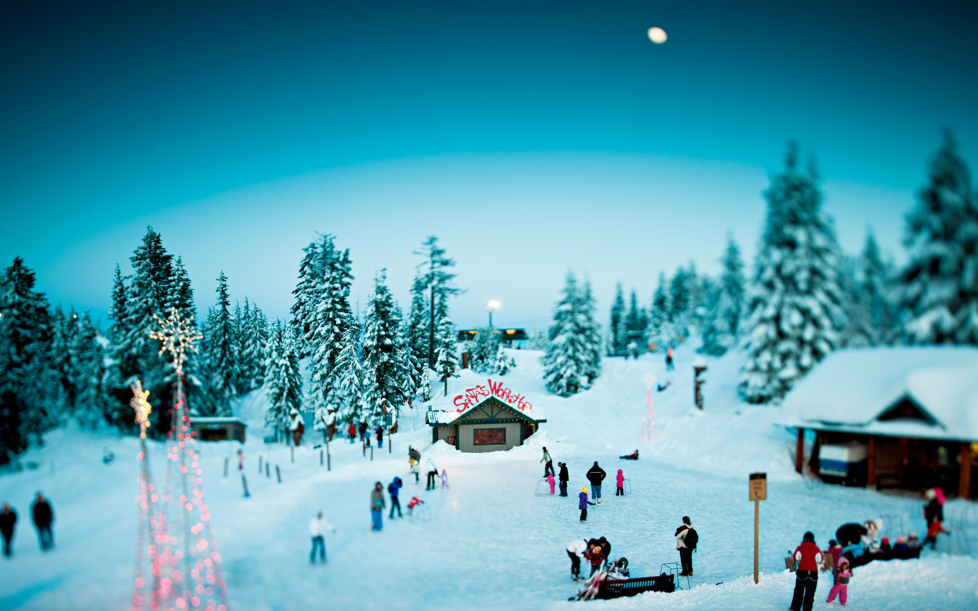 Grouse Mountain, Vancouver, at Christmas