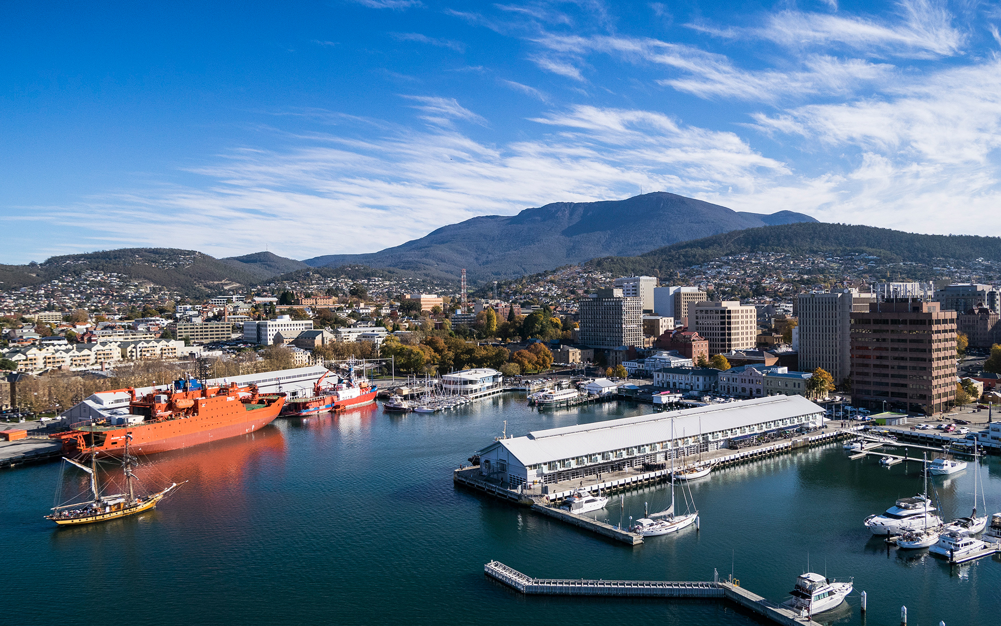 Hobart is Tasmania's capital city and the second oldest capital in Australia, after Sydney. Located at the entrance to the Derwent River, its well-preserved surrounding bushland reaches close to the city centre while beaches line the shores of the river a