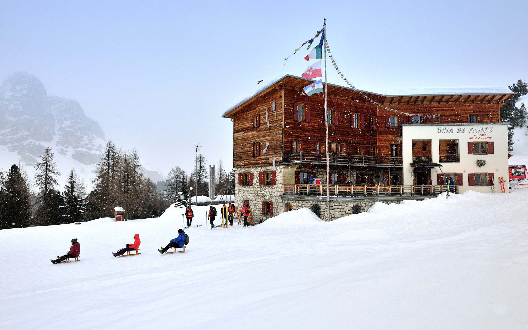 Europe's Coziest Winter Retreats: Rifugio Fanes, Dolomites, Italy