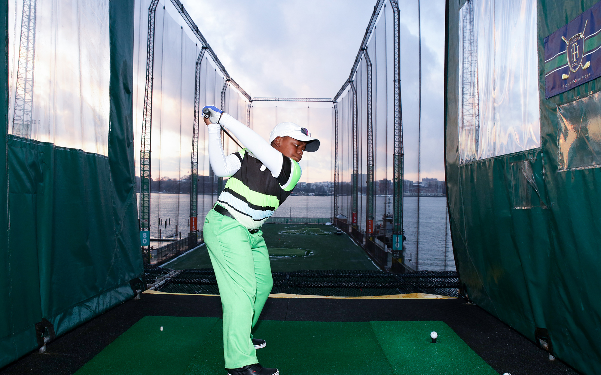"NEW YORK, NY - DECEMBER 10:  Golfer Zamokuhle Nxasana attends the Netflix ""The Short Game"" Golfing Event at Chelsea Piers Sports Center on December 10, 2013 in New York City.  (Photo by Andrew Toth/Getty Images)"