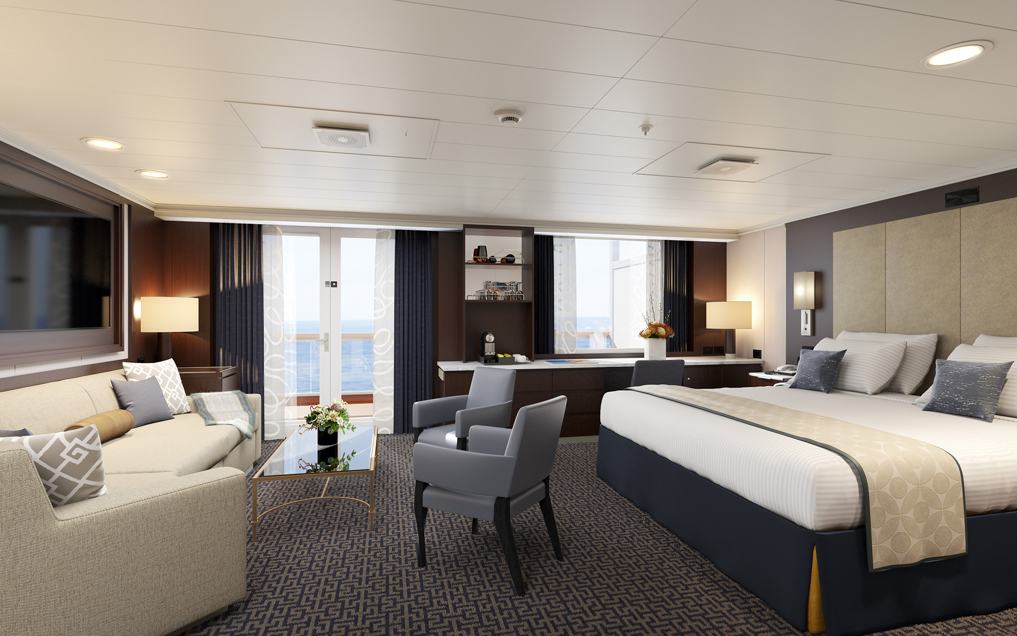 World's Best Cruise Cabins: Holland America Line, Large Ocean