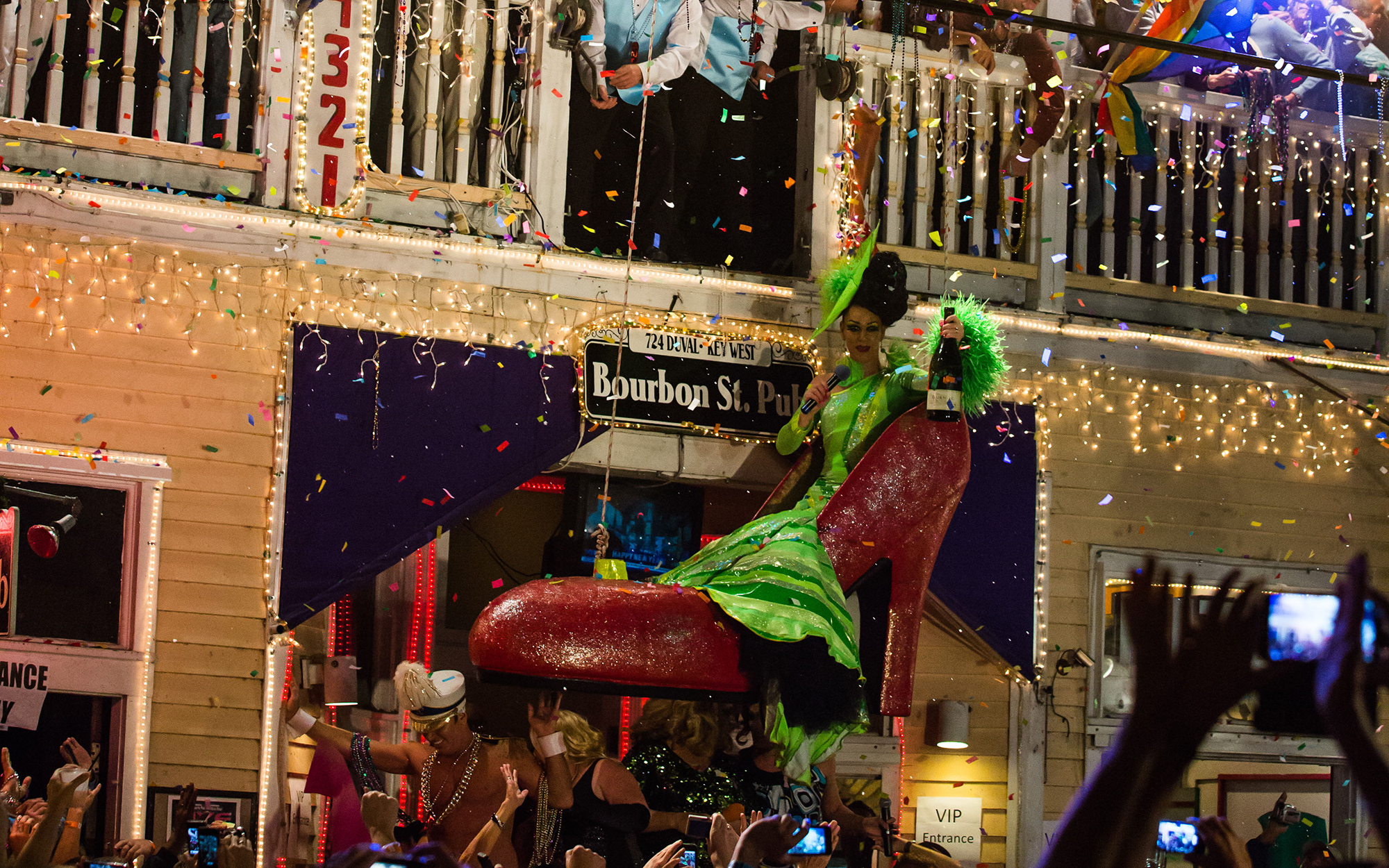 Key West Bourbon Street shoe drop