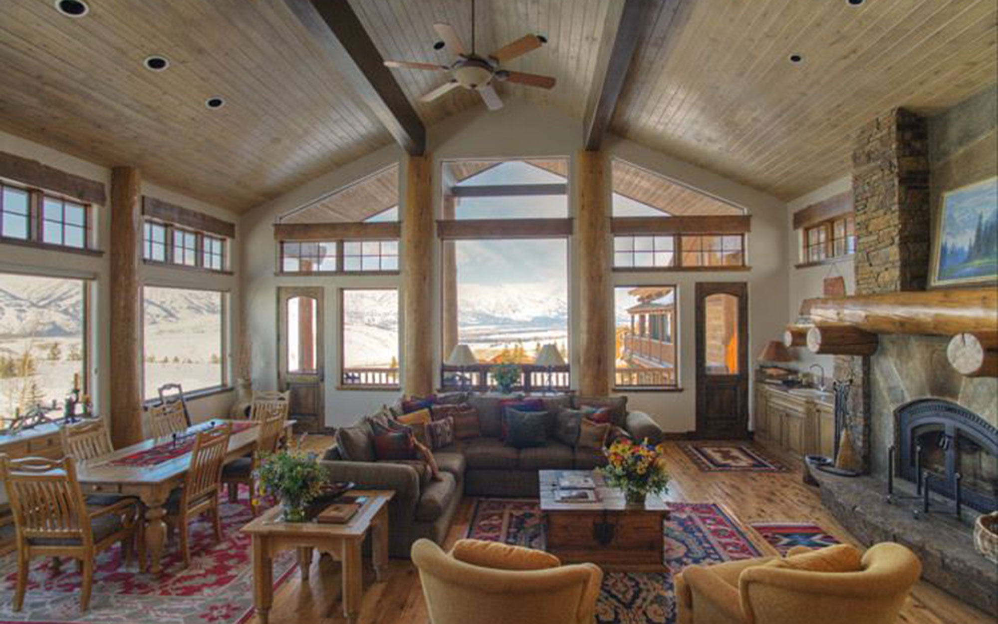 Where to Apres Ski with Celebrities:  Spring Creek Ranch, Jackson Hole, WY