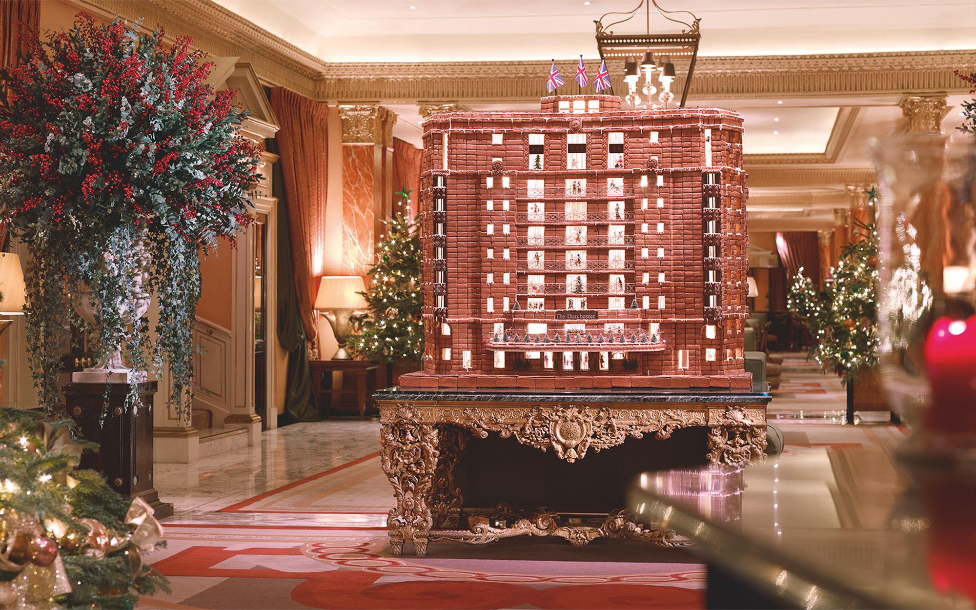 The Best Hotel Gingerbread Houses: The Dorchester, London