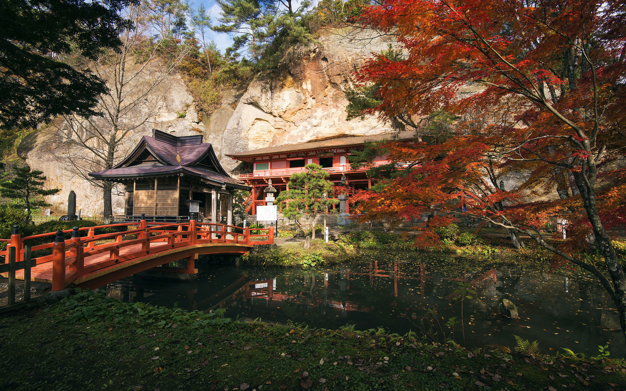 Buddhist Temple in Hiraizumi