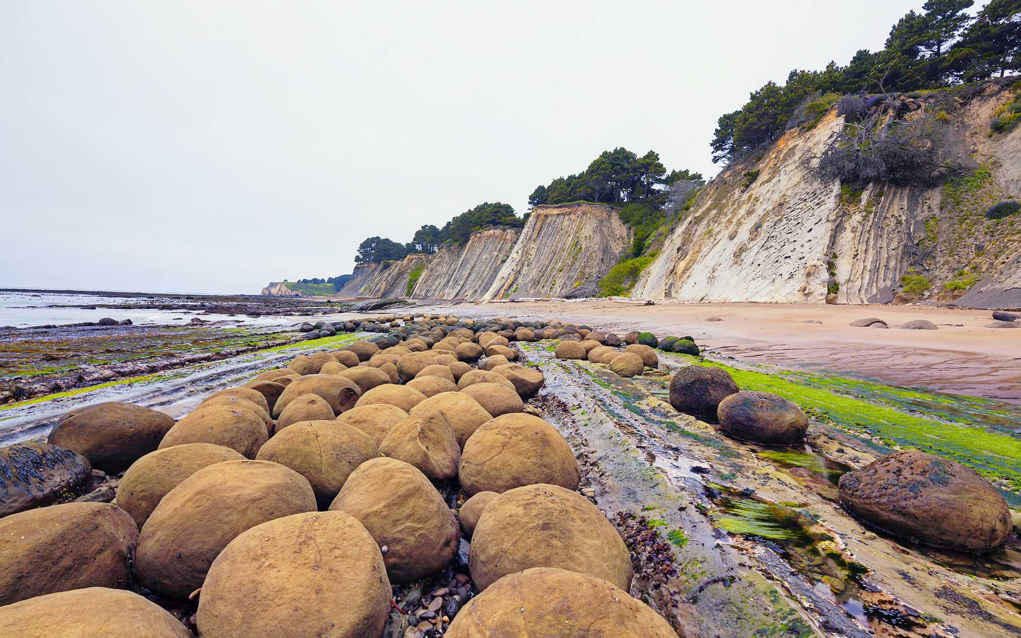 world's strangest beaches: Bowling Ball Beach, Mendocino, CA