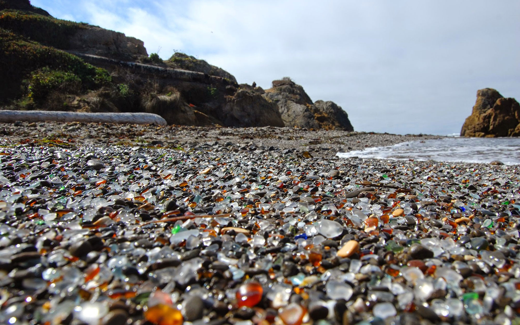 world's strangest beaches: Glass Beach, Fort Bragg