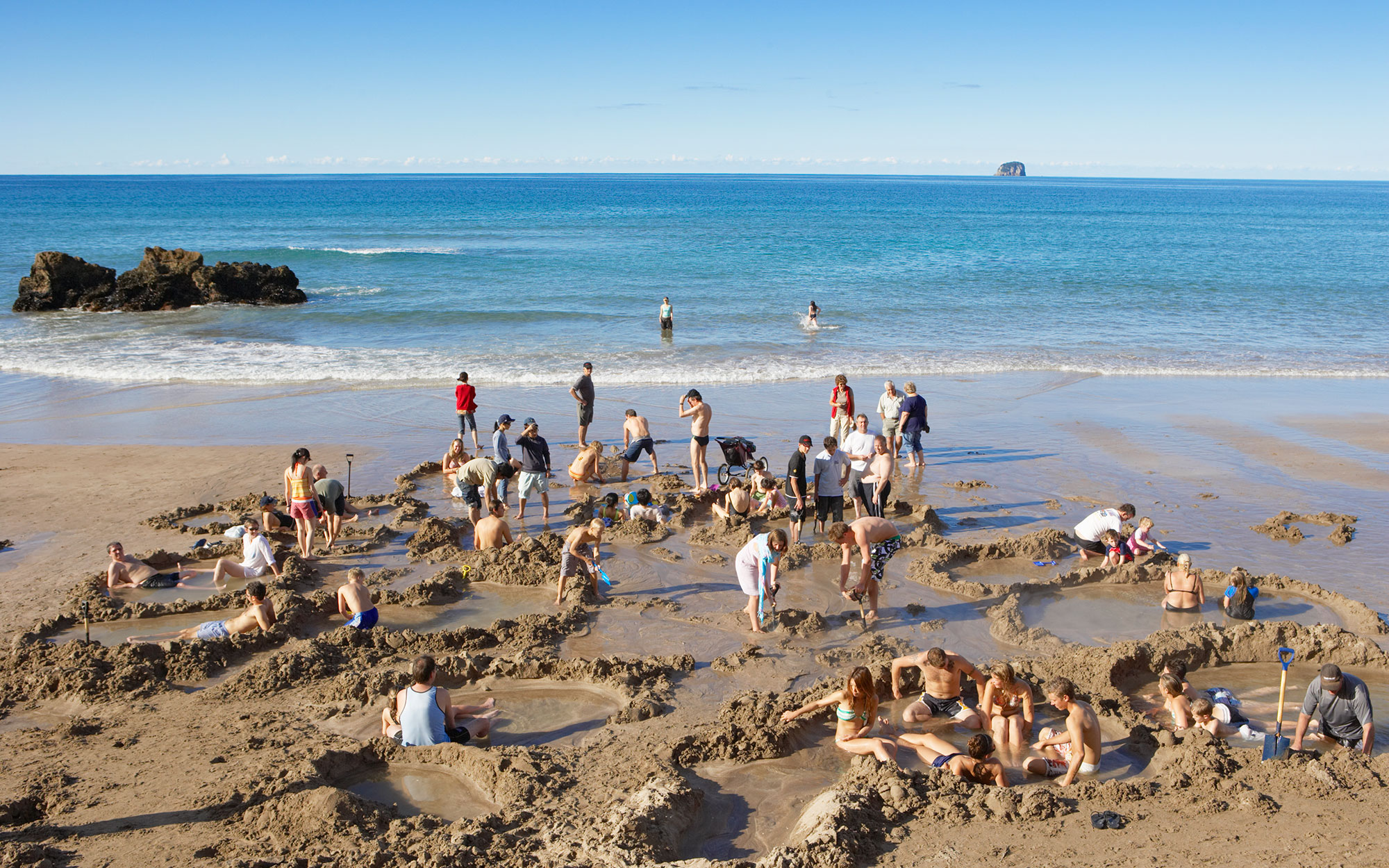 world's strangest beaches: Hot Water
