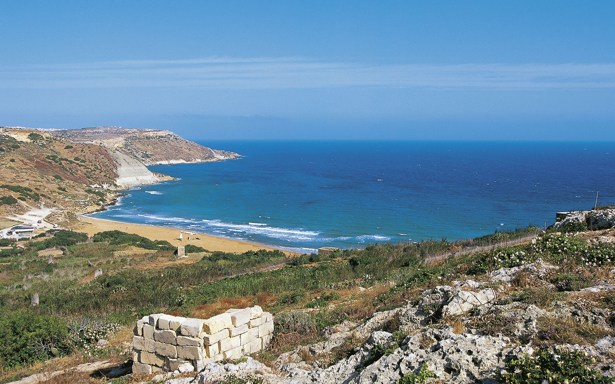 world's strangest beaches: Ramla Bay, Gozo