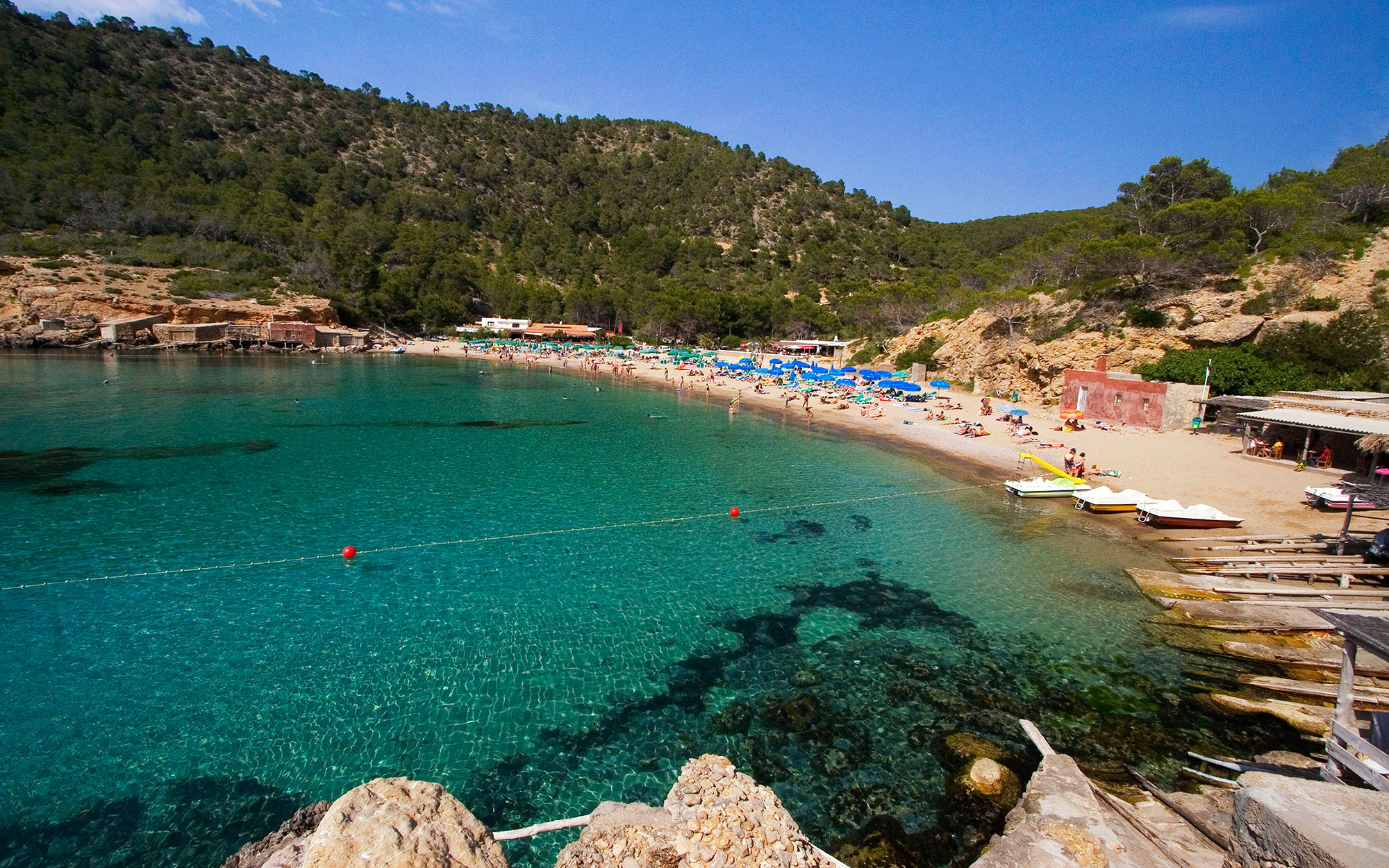 Best Beaches in Ibiza: Cala Bassa