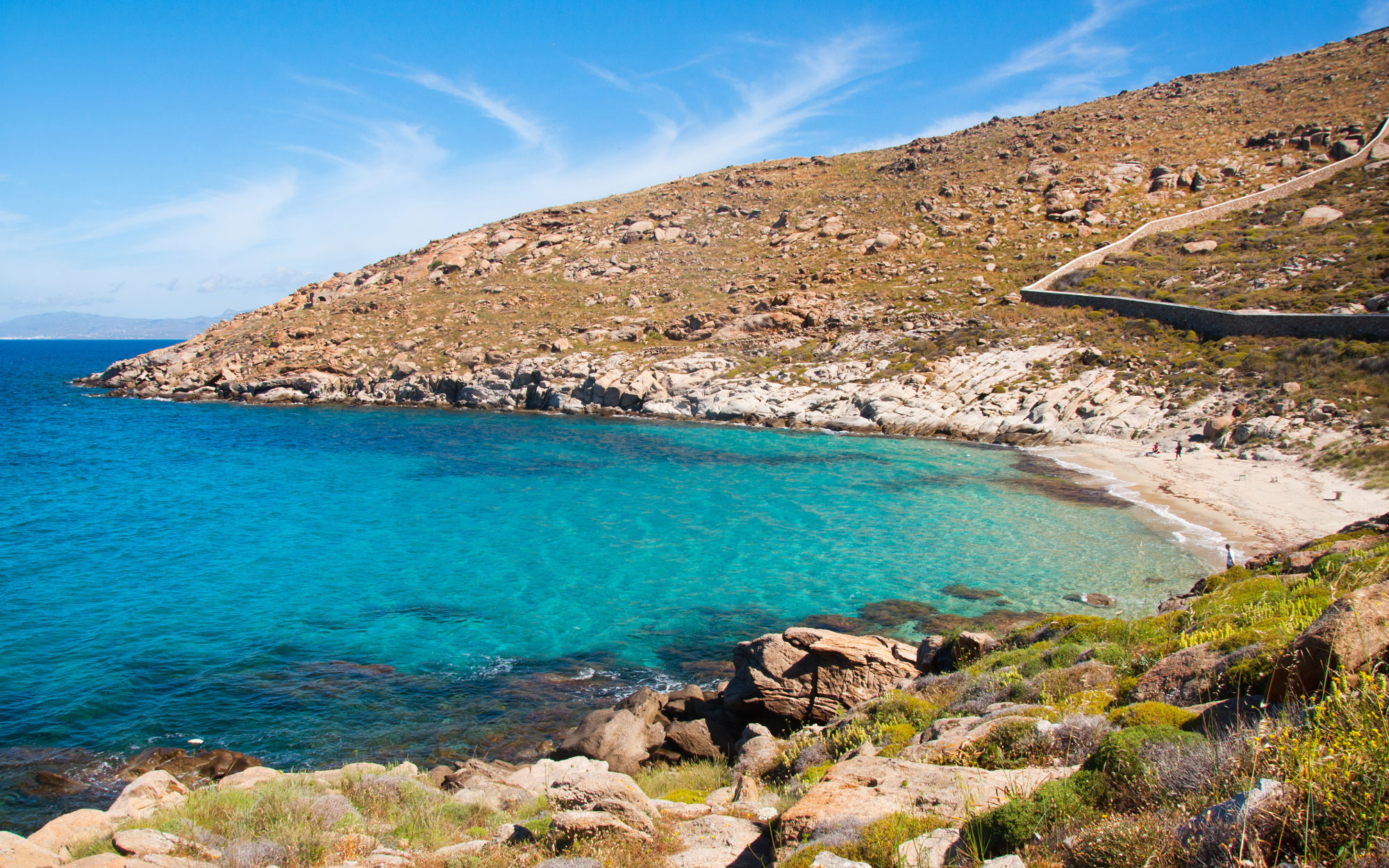 Best Beaches in Greece: Kapari, Mykonos
