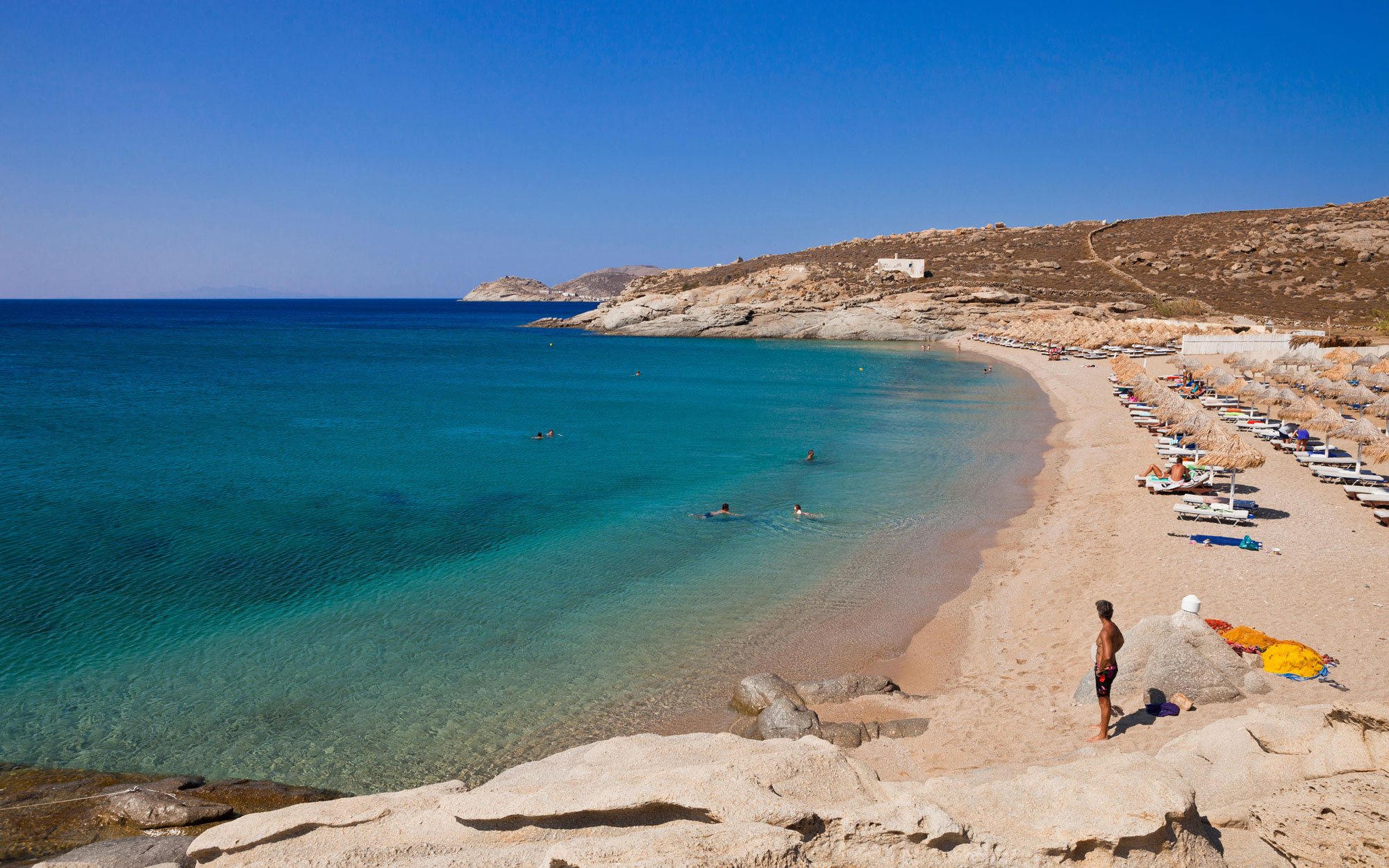 Best Beaches in Greece: Lia, Mykonos