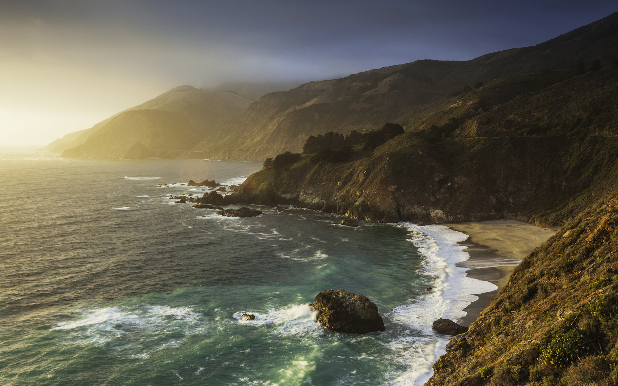Overlooking Big Sur, California