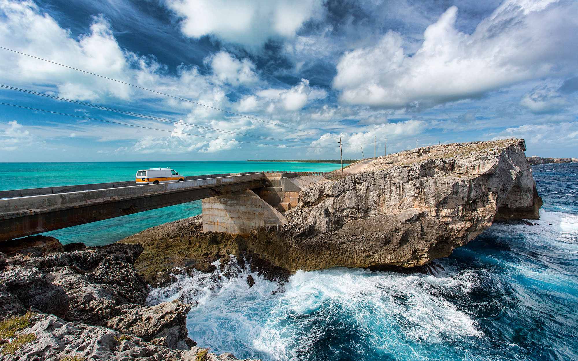 Bahamas, Eleuthera Island, The Glass Window Bridge