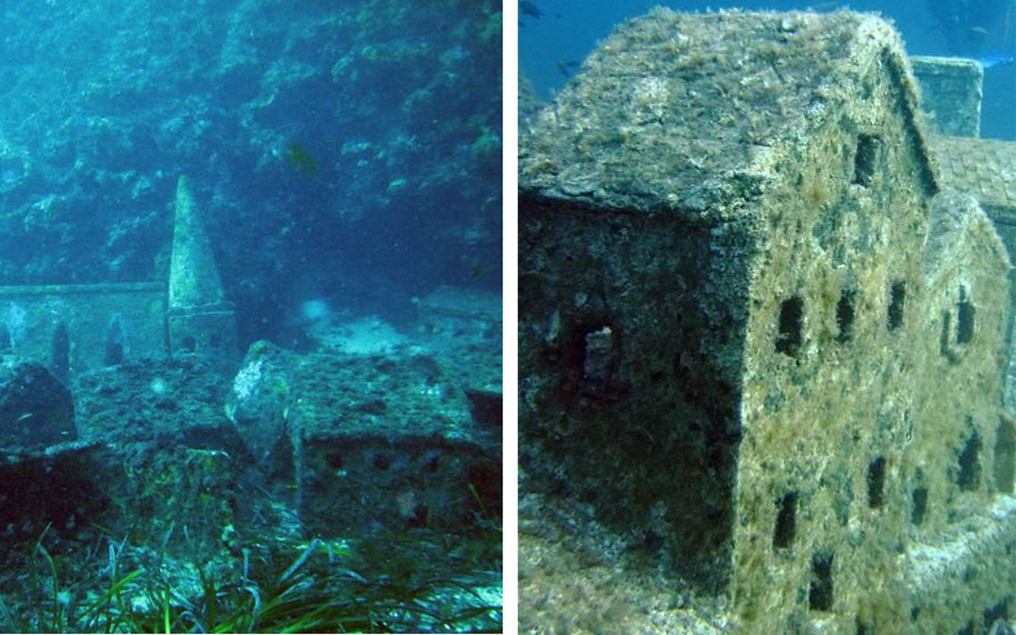 Abandoned Movie Sets You Can Still Visit: L'Enfant et la Sirène's Underwater Village in France
