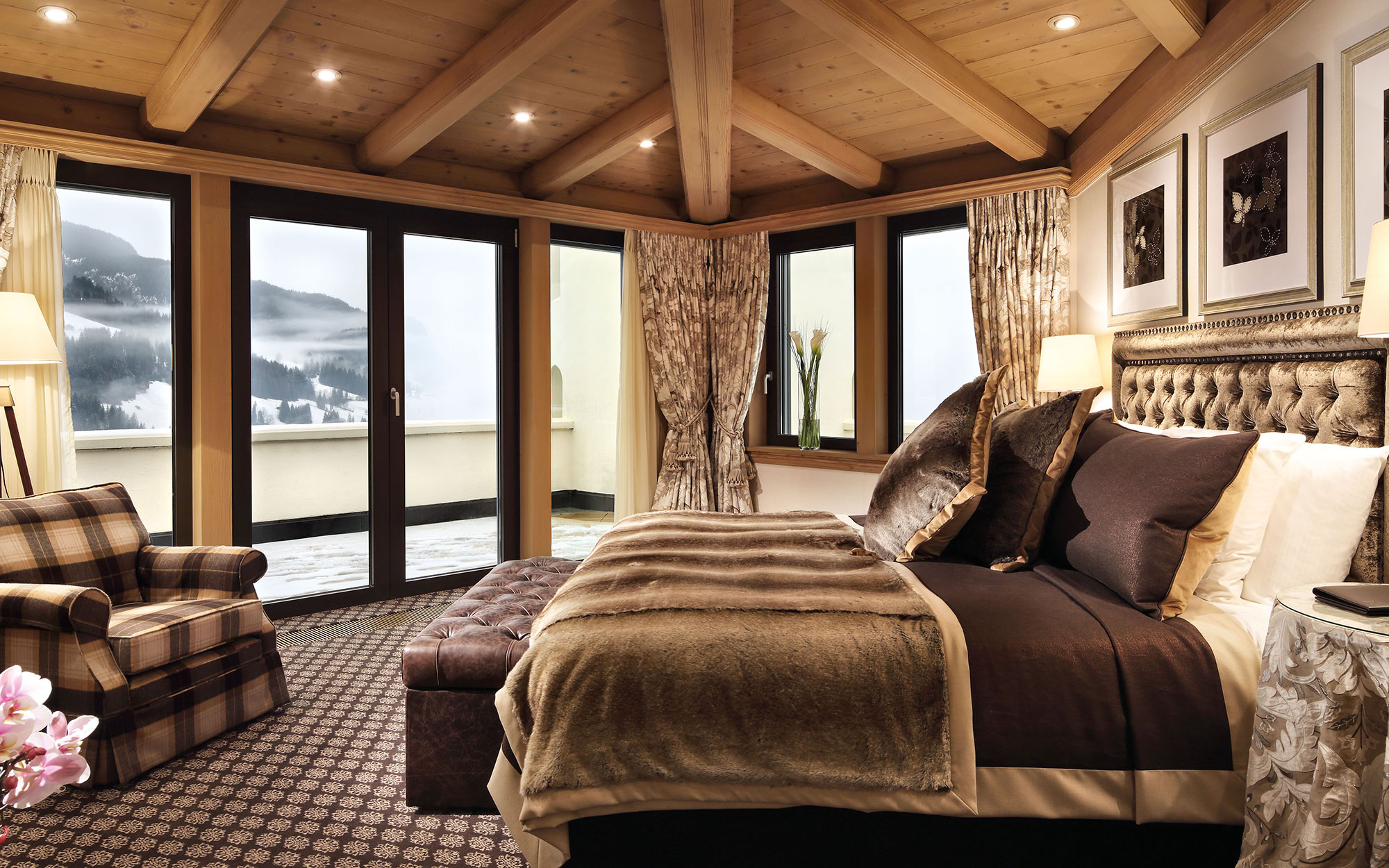 12 New Penthouse Perches To Swoon Over: Penthouse Suite, Gstaad Palace, Gstaad, Switzerland