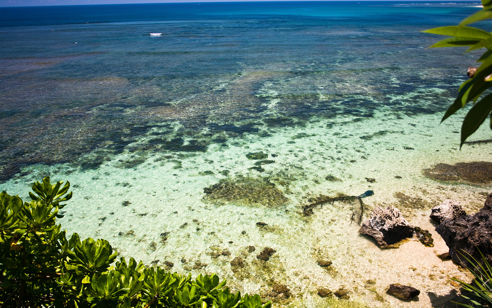 Reefs off Geiger beach.