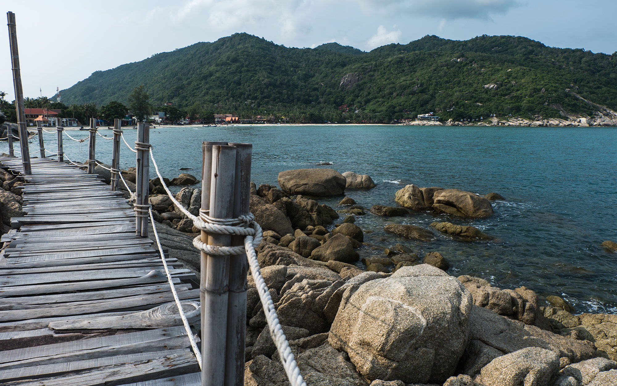 Wooden Boardwalk at Haad Rin, Koh Pha Ngan