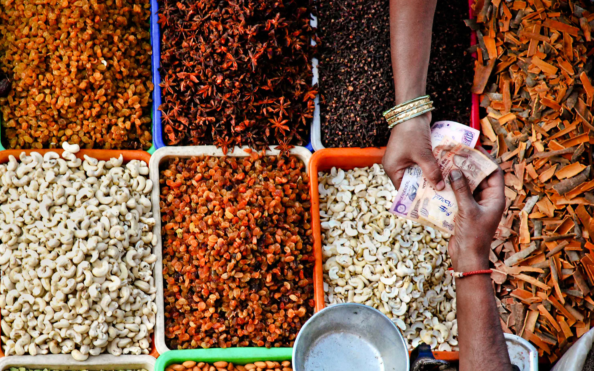 Spices at local market