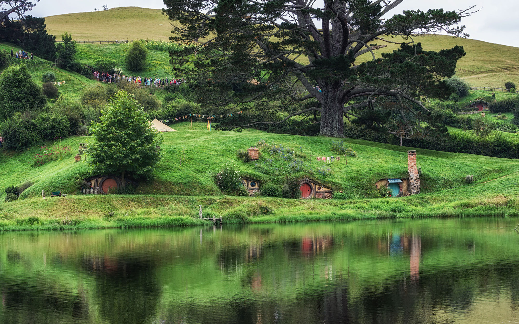 Abandoned Movie Sets You Can Still Visit: Lord of the Rings Hobbit Holes in Matamata, New Zealand