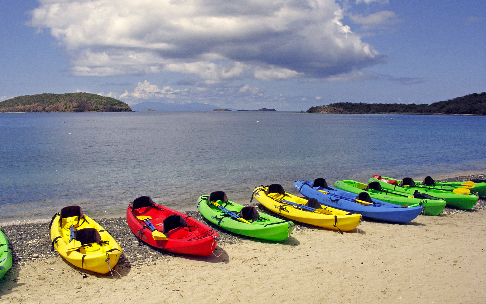 Kayaks at Tamarindo Beach