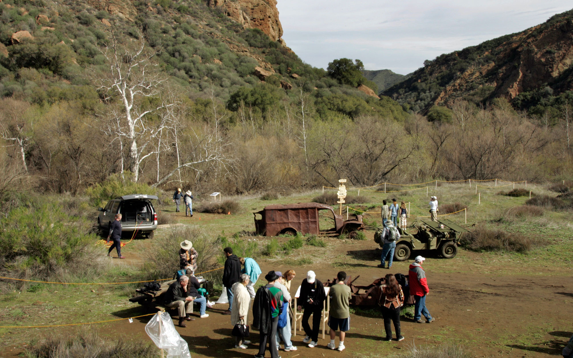 Abandoned Movie Sets You Can Still Visit: M*A*S*H Signs in Malibu Creek State Park, California