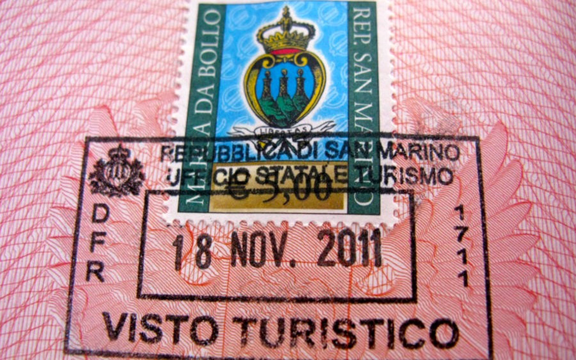 10 Coolest Passport Stamps in the World: Republic of San Marino