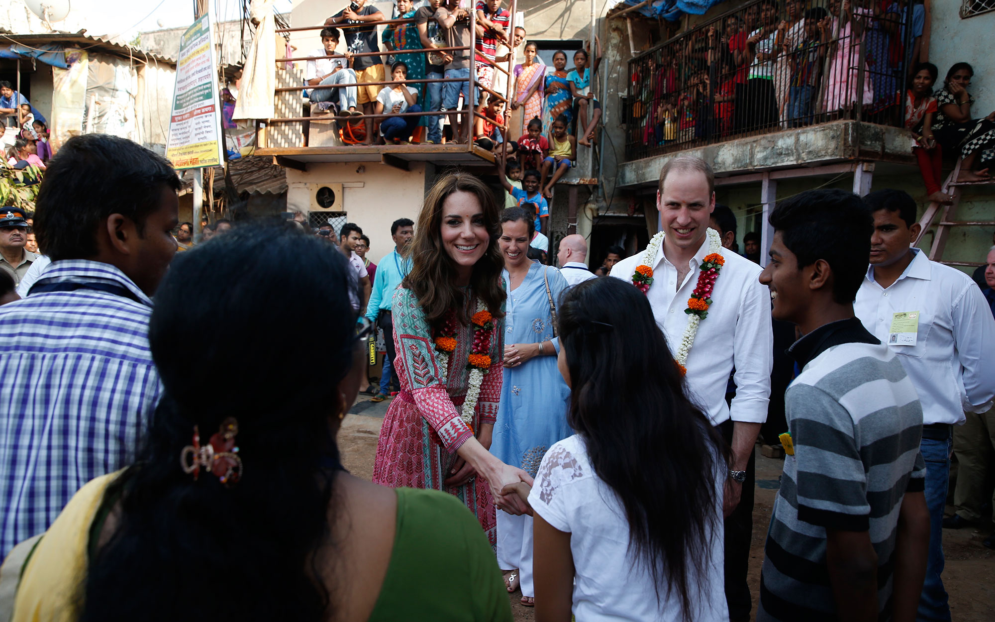 Prince William and Kate Middleton Embark on their Royal Tour of India and Bhutan: Greeting Children
