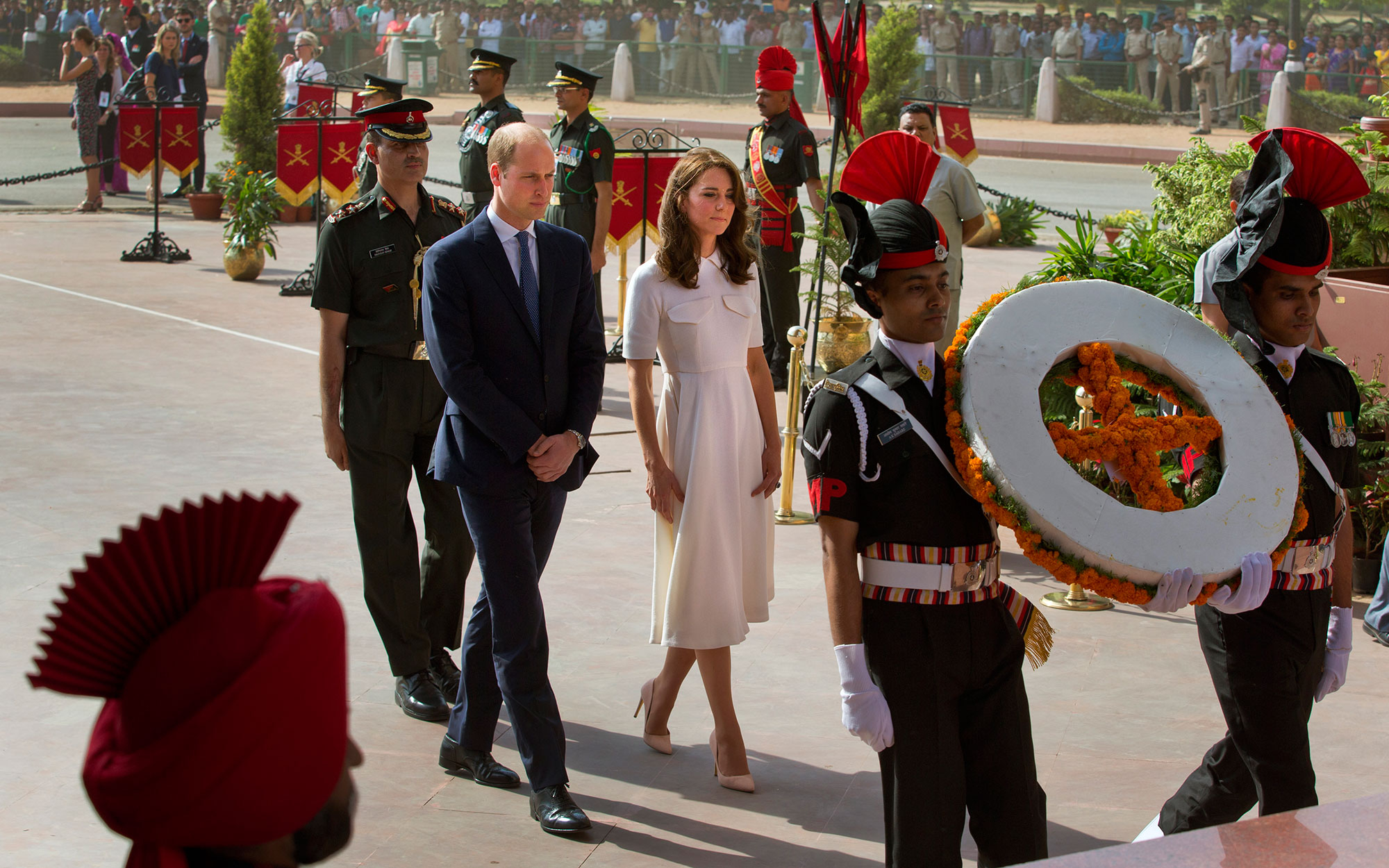 Prince William and Kate Middleton Embark on their Royal Tour of India and Bhutan: Laying a Wreath at India Gate