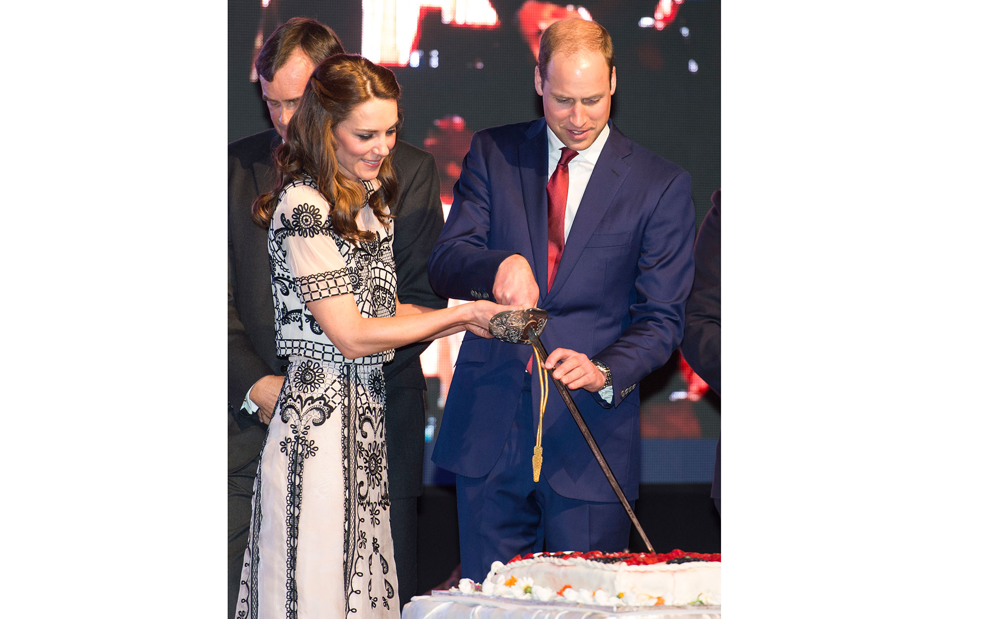 Prince William and Kate Middleton Embark on their Royal Tour of India and Bhutan: Attending a Birthday Party for the Queen