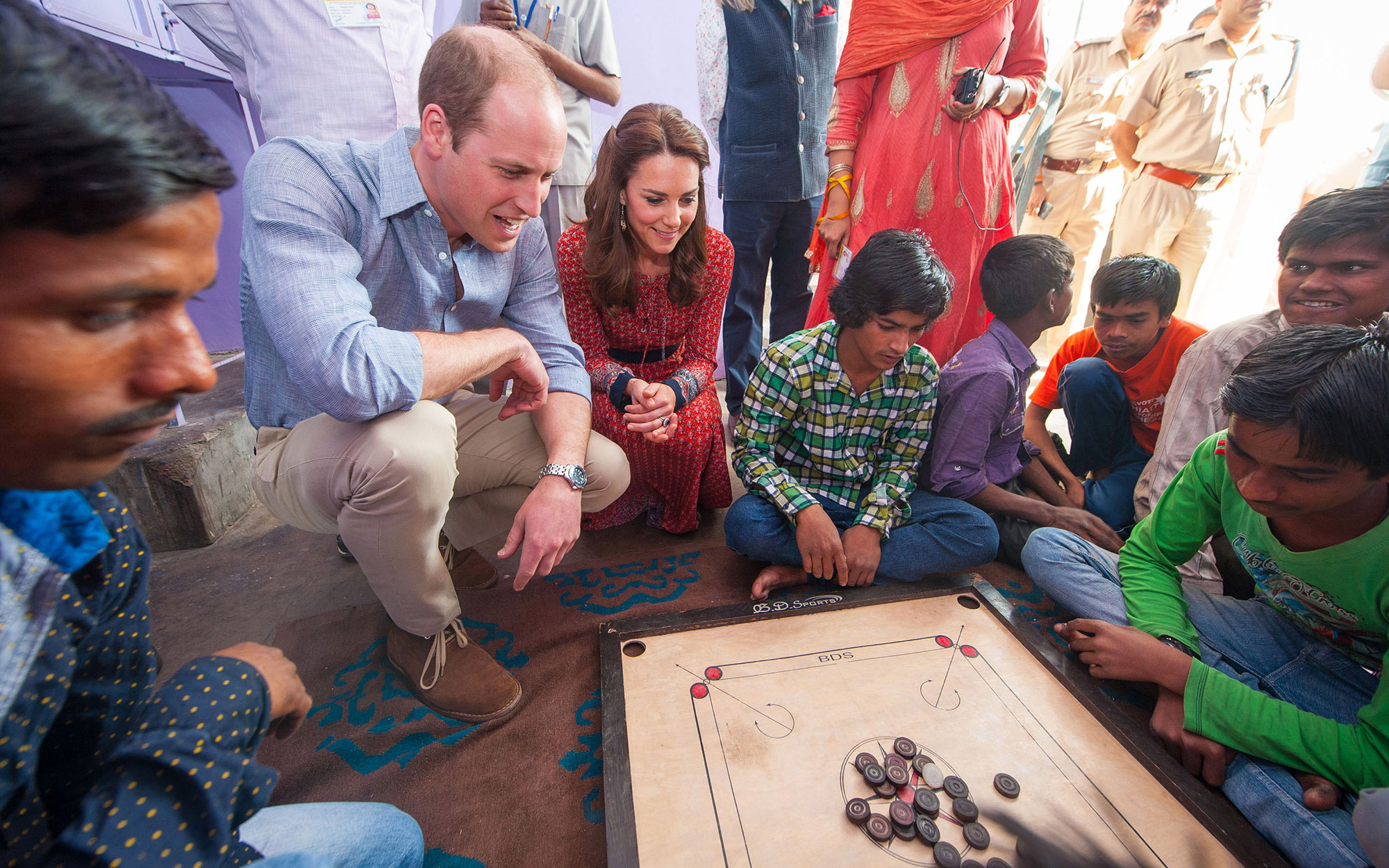 Prince William and Kate Middleton Embark on their Royal Tour of India and Bhutan: Playing Games