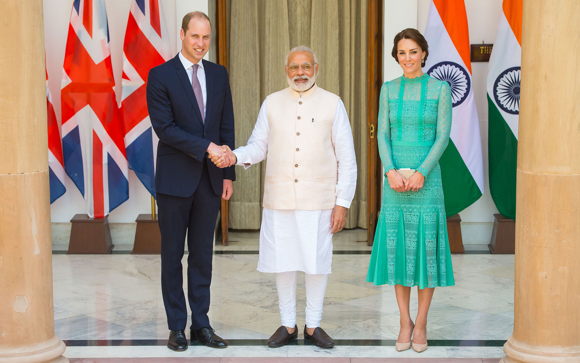 Prince William and Kate Middleton Embark on their Royal Tour of India and Bhutan: Meeting the Prime Minister