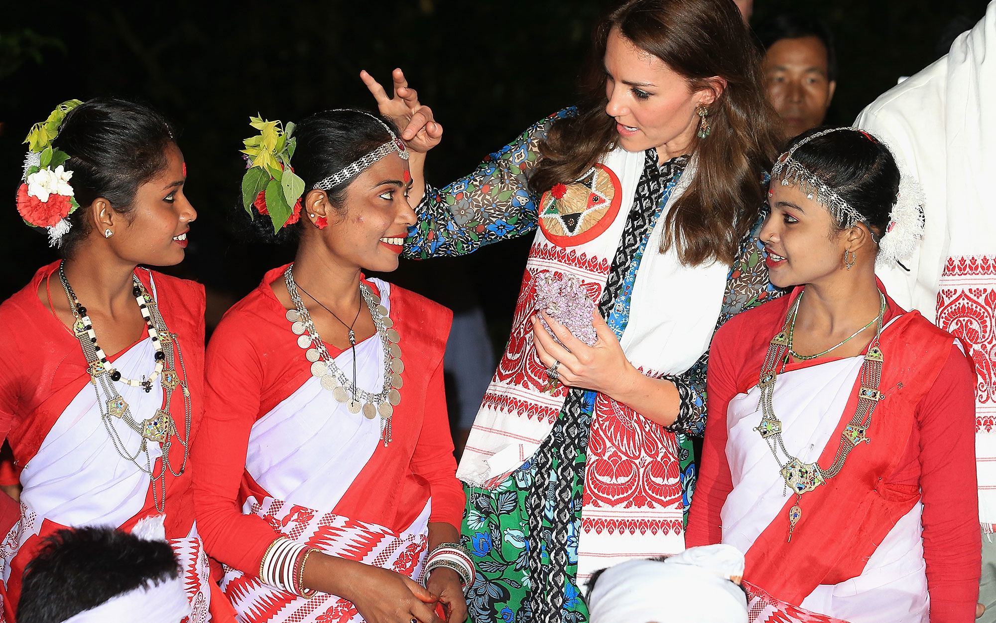 Prince William and Kate Middleton Embark on their Royal Tour of India and Bhutan: Enjoying a Performance