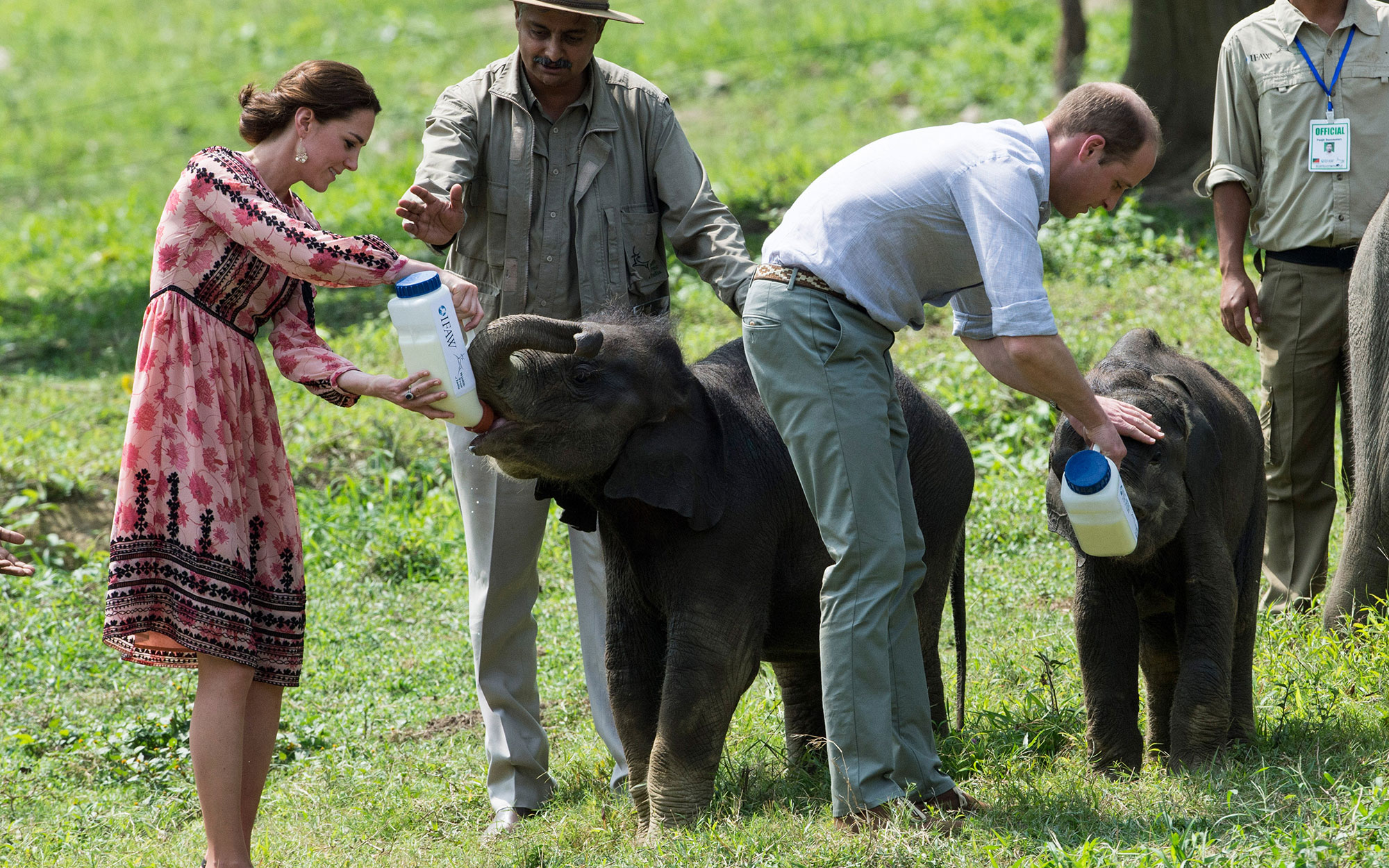 Prince William and Kate Middleton Embark on their Royal Tour of India: Feeding Baby Elephants