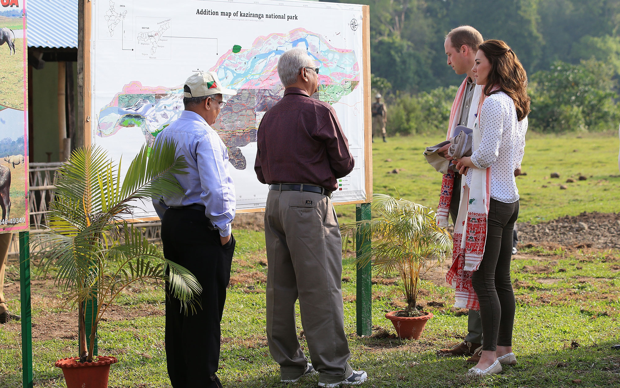 Prince William and Kate Middleton Embark on their Royal Tour of India and Bhutan: Learning About the Park