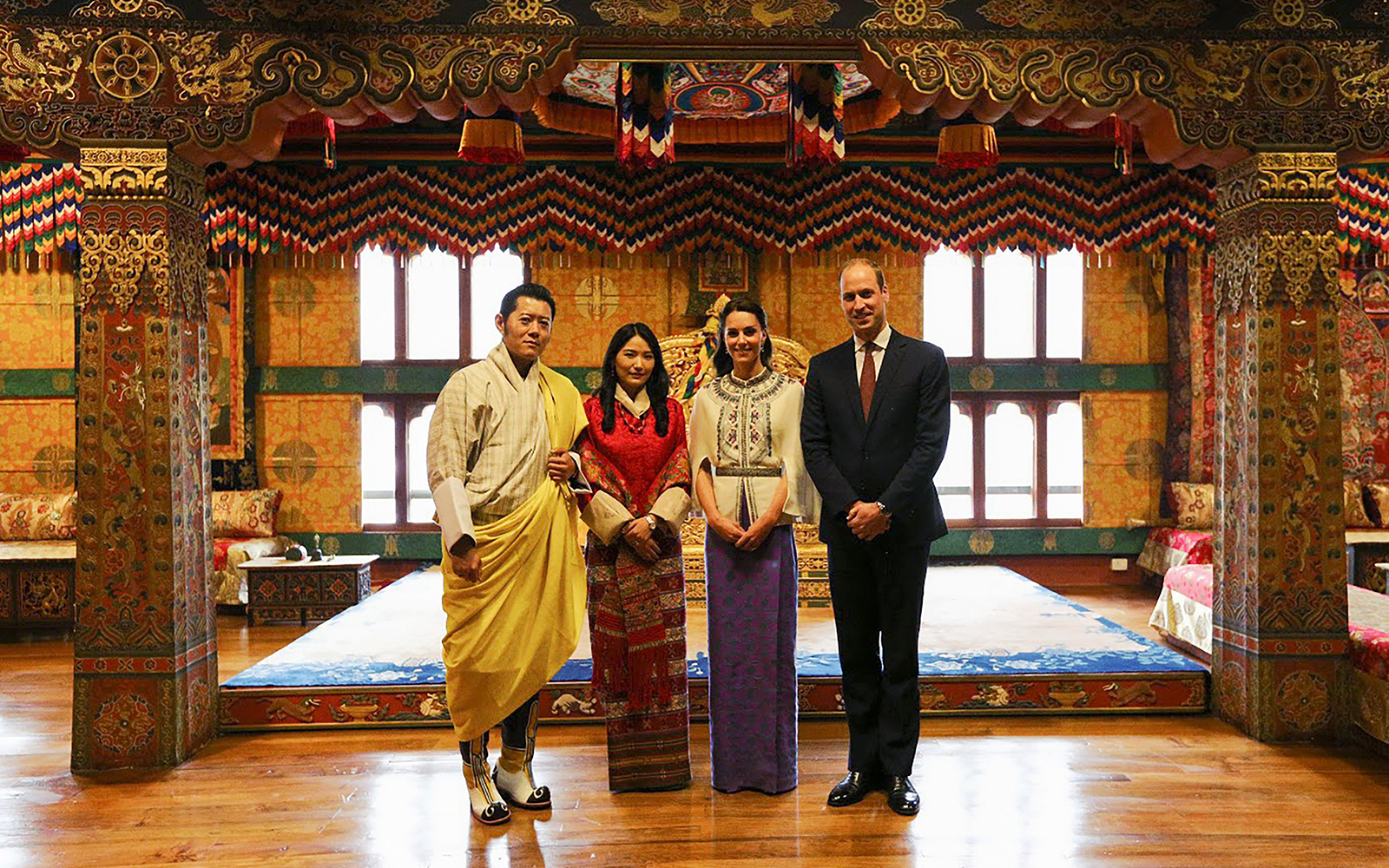Prince William and Kate Middleton Embark on their Royal Tour of India and Bhutan: Visiting a Buddhist Temple