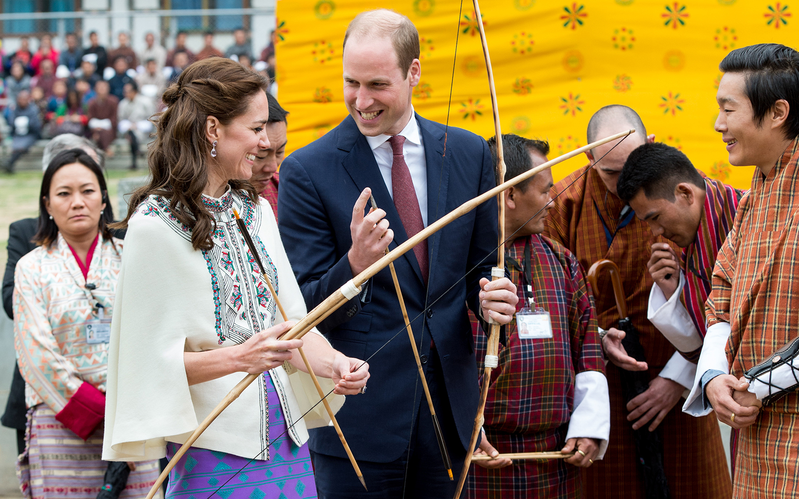 Prince William and Kate Middleton Embark on their Royal Tour of India and Bhutan: Attempting Archery