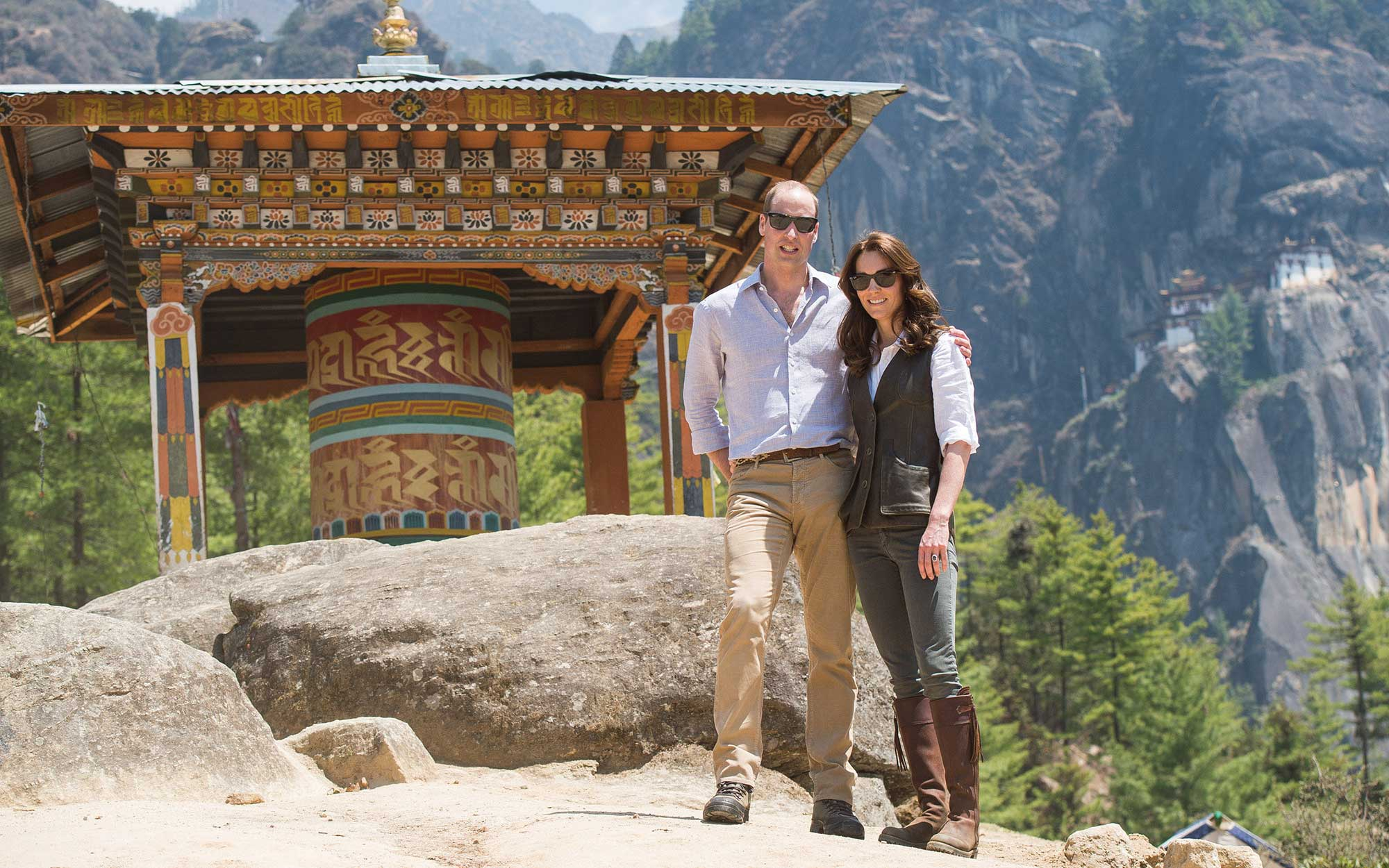 Prince William and Kate Middleton Embark on their Royal Tour of India and Bhutan: Hiking to a Mountaintop Monastery