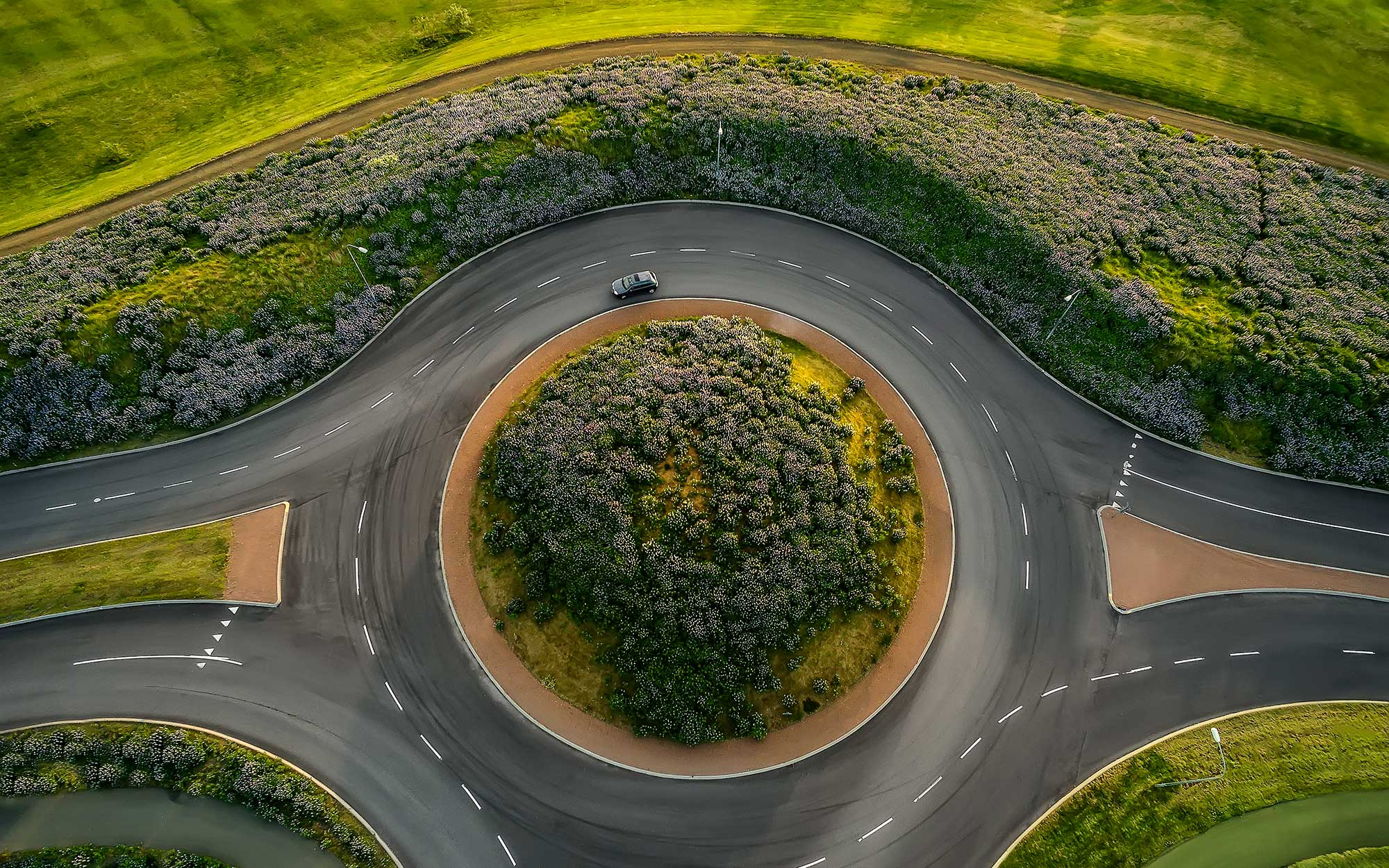 Iceland Drone Photos - Roundabout