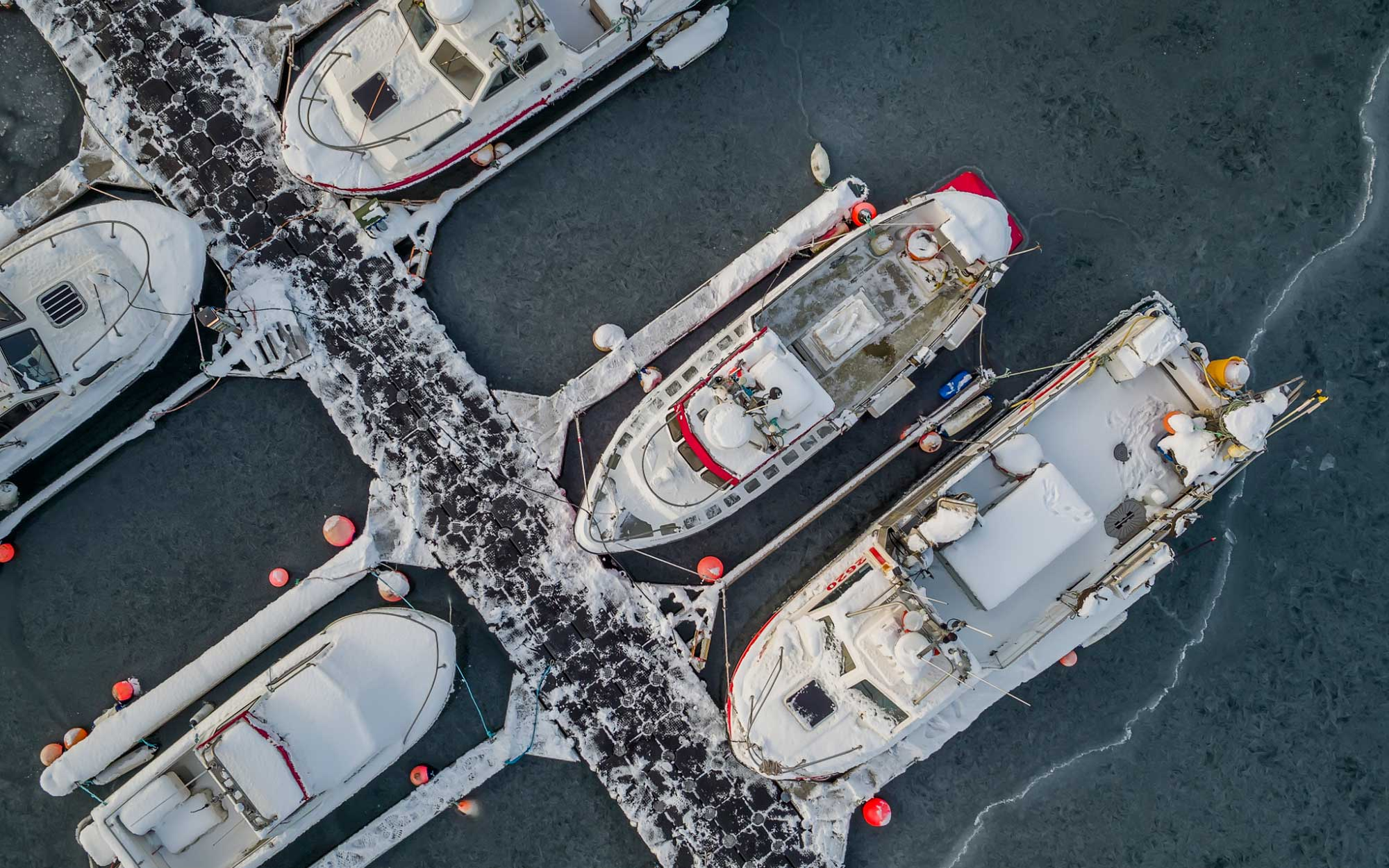 Iceland Drone Photos - Fishing Trawlers