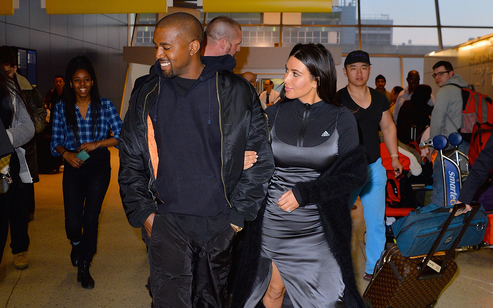 Kanye and Kim in Iceland