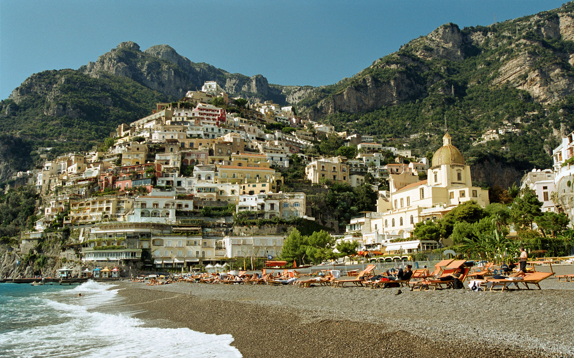 Positano Beach in Italy