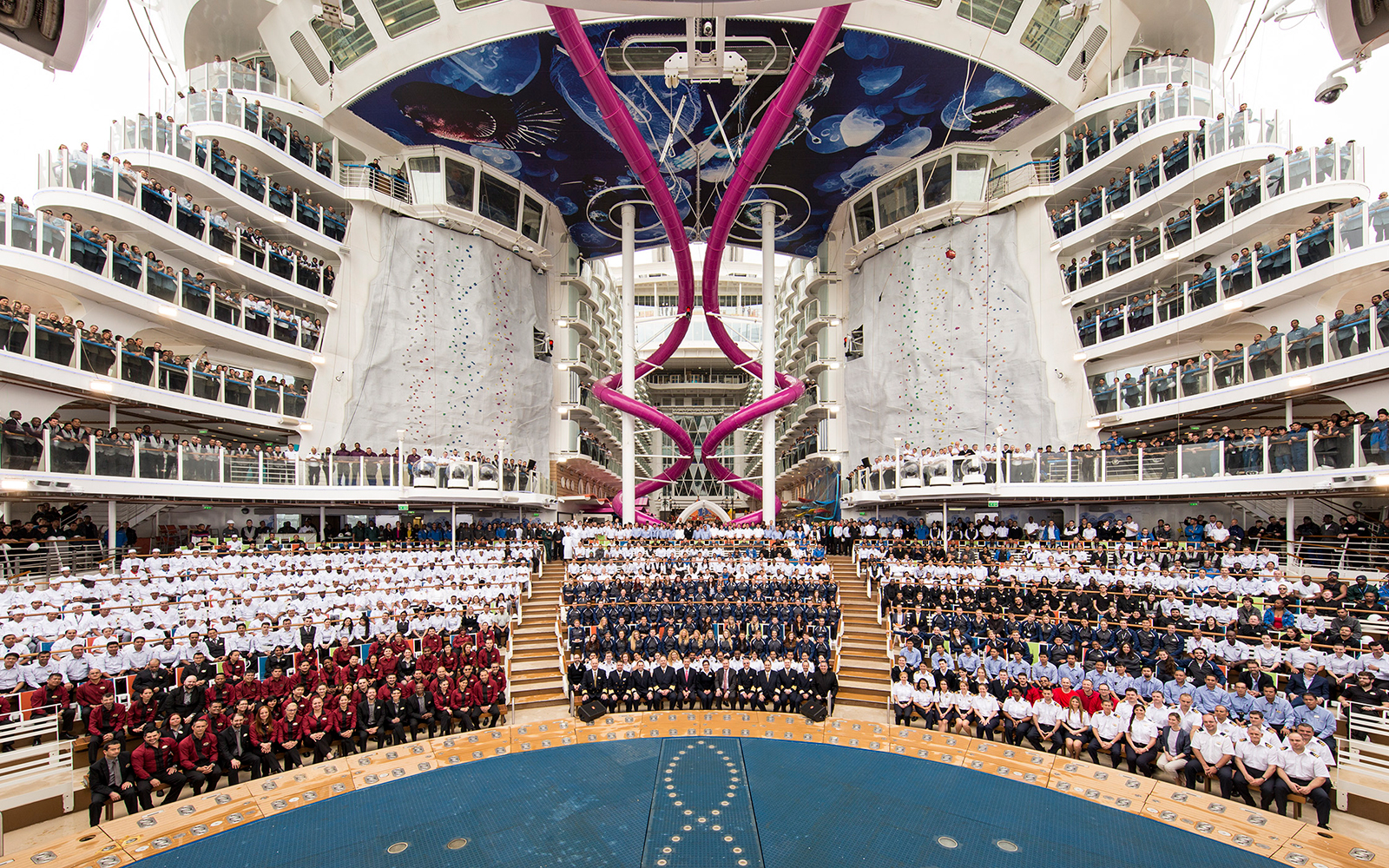 Harmony of the Seas ceremony