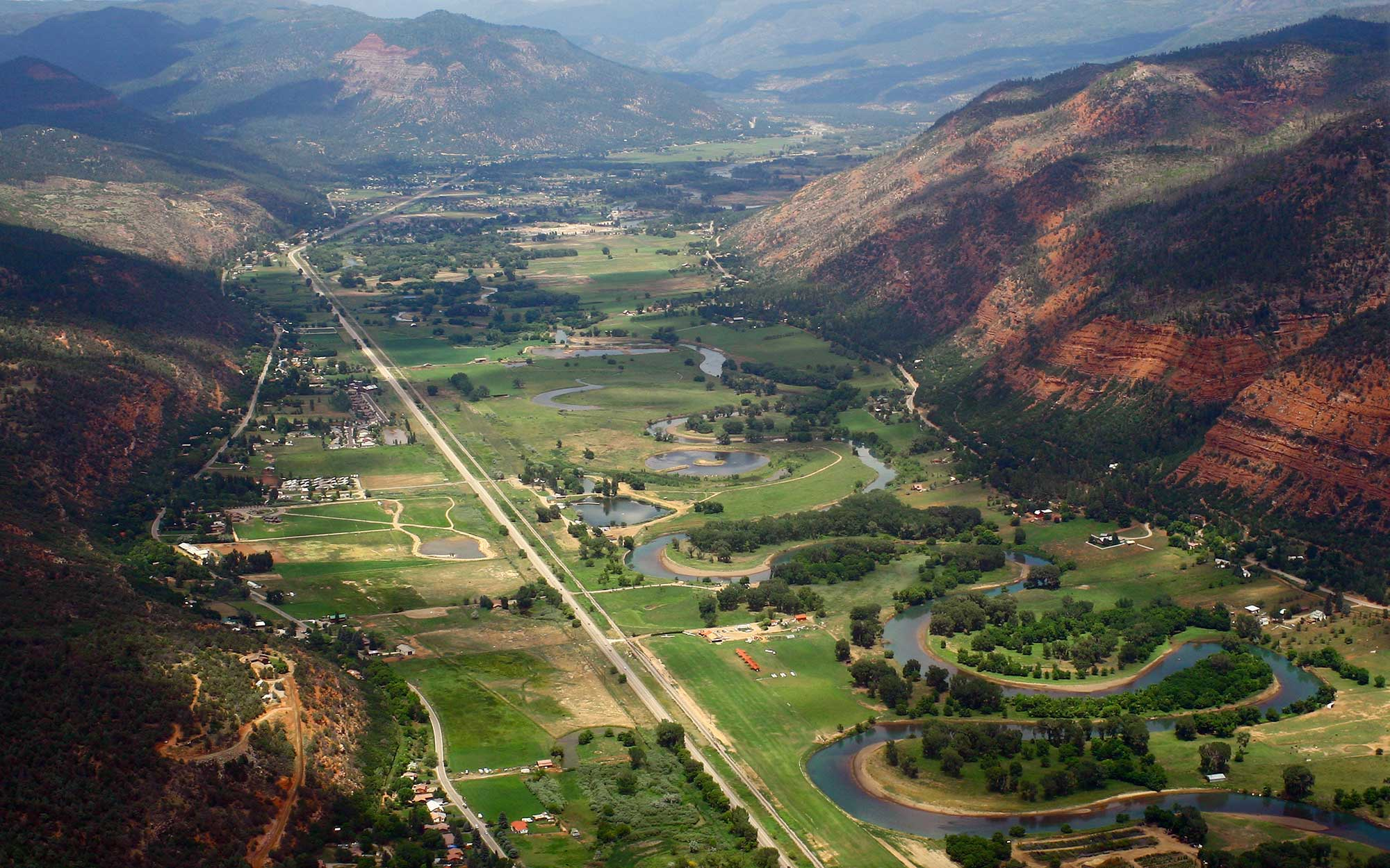 Aerial view of Durango, Colorado