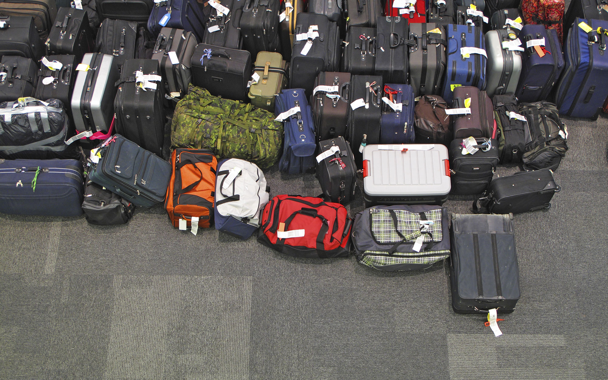 Lost luggage in the airport