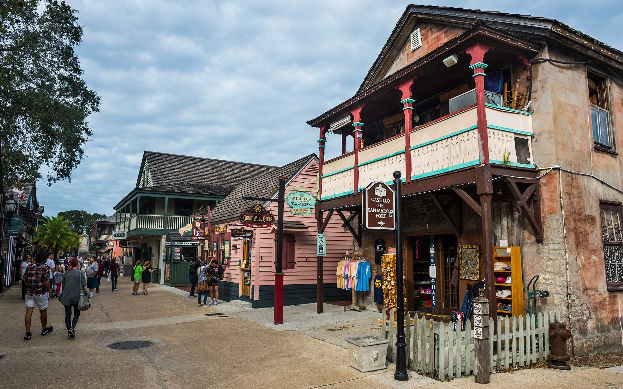Old colonial shops