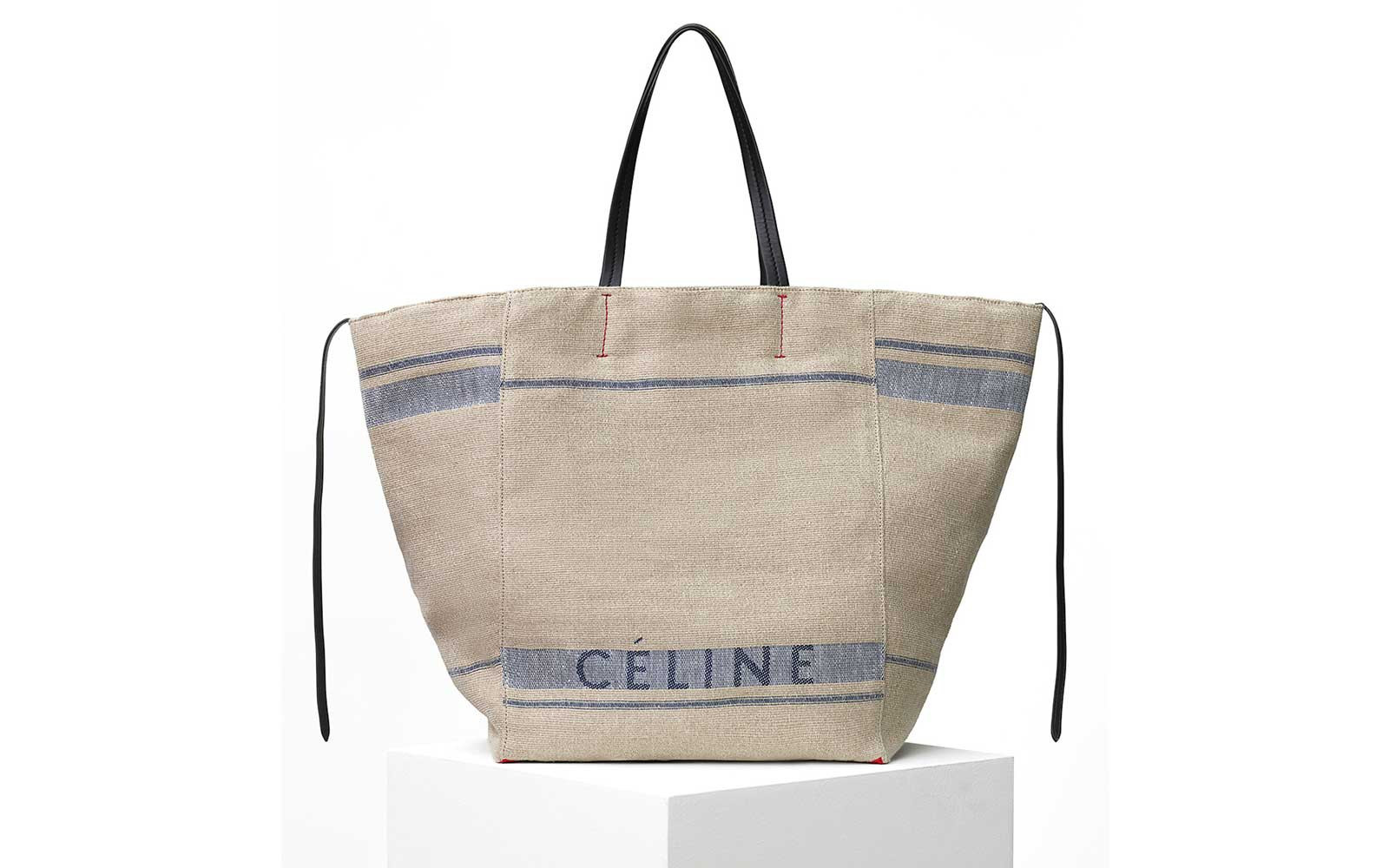Celine Large Tabas Phantom in Beige Canvas