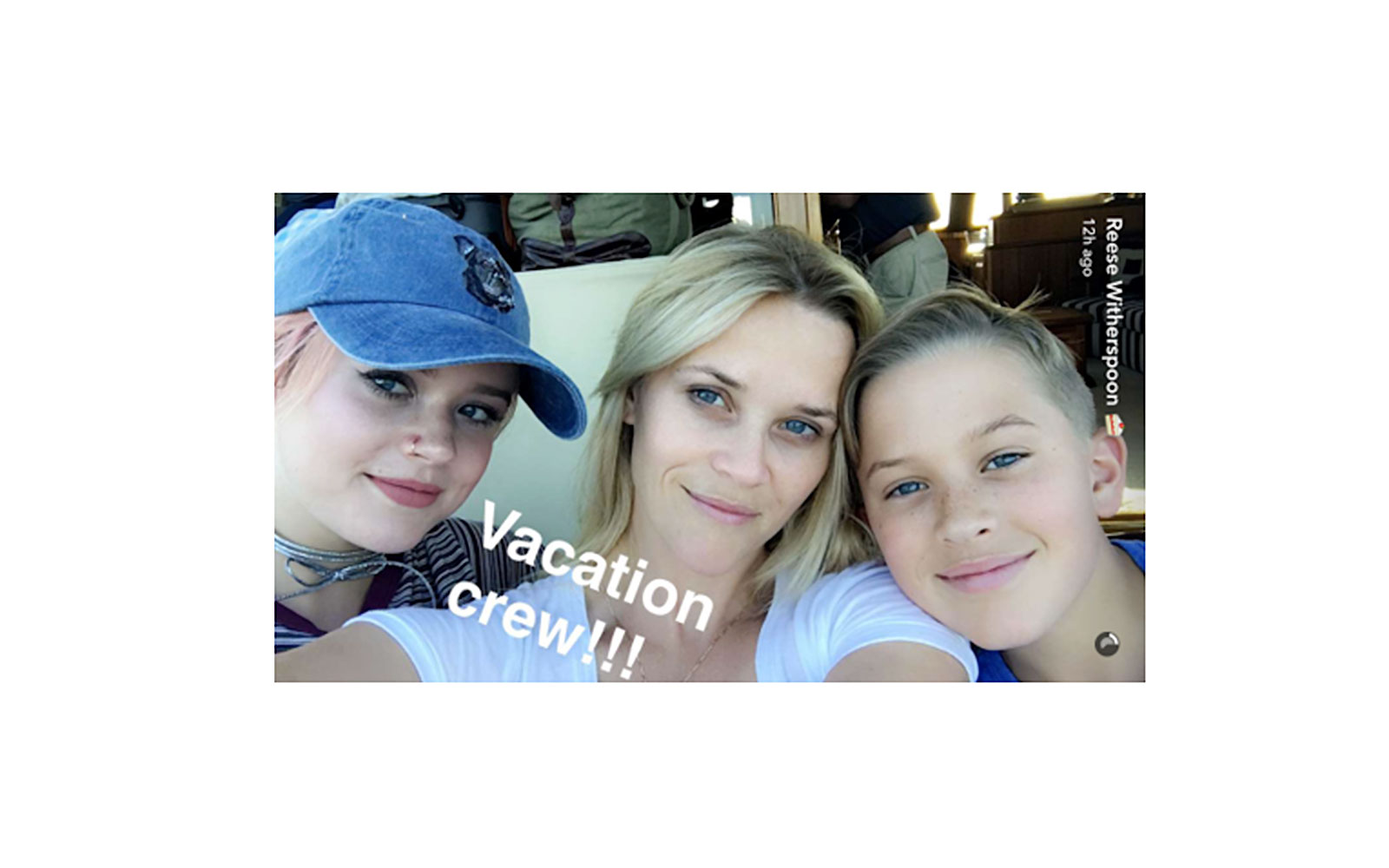 Reese Witherspoon on vacation with her kids