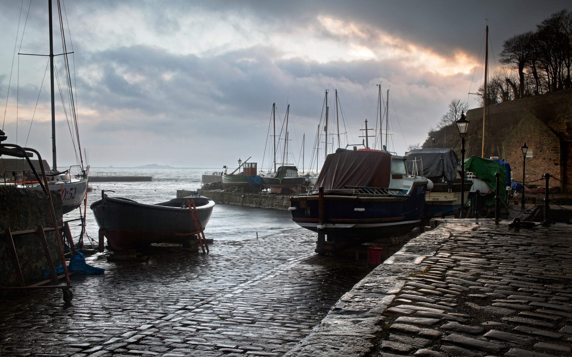 Dysart Harbor Fife Scotland