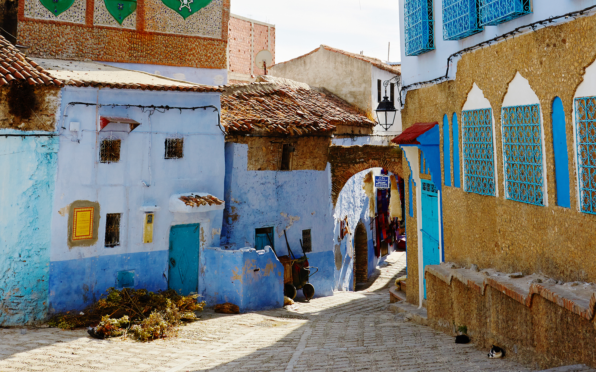 Streetview in Chefchaouen Morocco